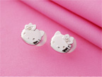 "Pierced Earrings ""Hello Kitty"""